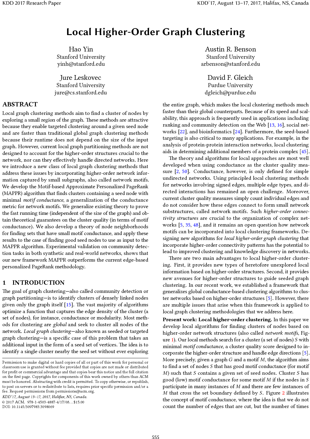 Local Higher-Order Graph Clustering